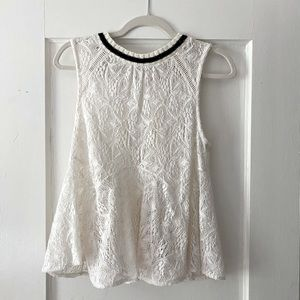 2/$20 Free People Maisie Lace Tank Top